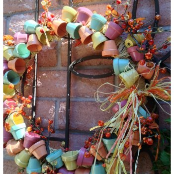 Outdoor Fall Door Wreath Roundup