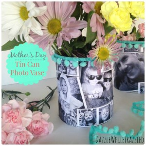 How to make a Mother's Day Tin Can Photo Vase