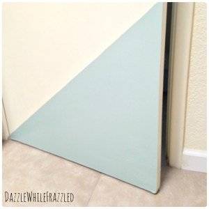 How to paint a color block accent to a door