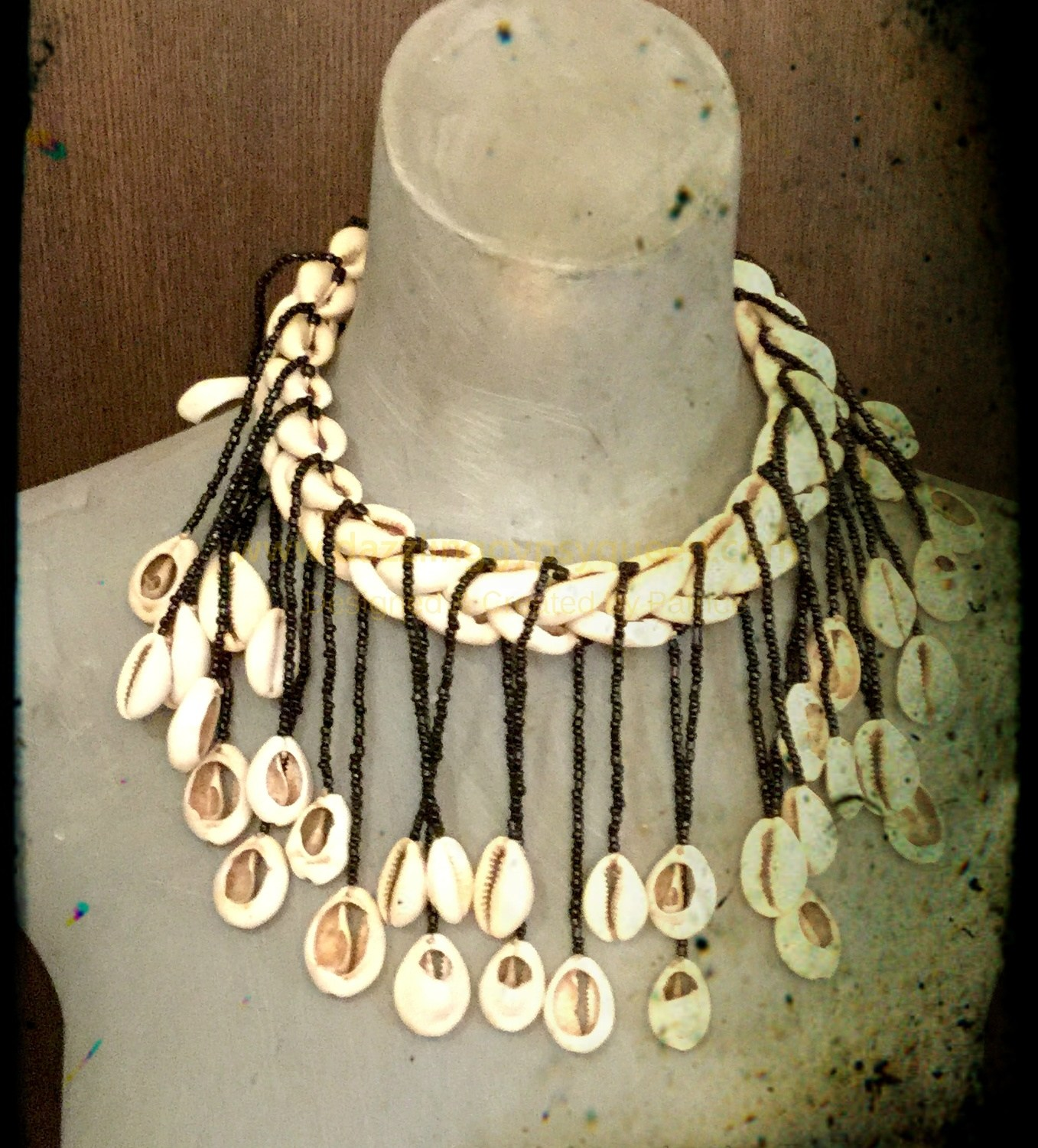 Native cowrie necklace strings by Dazzling Gypsy Queen