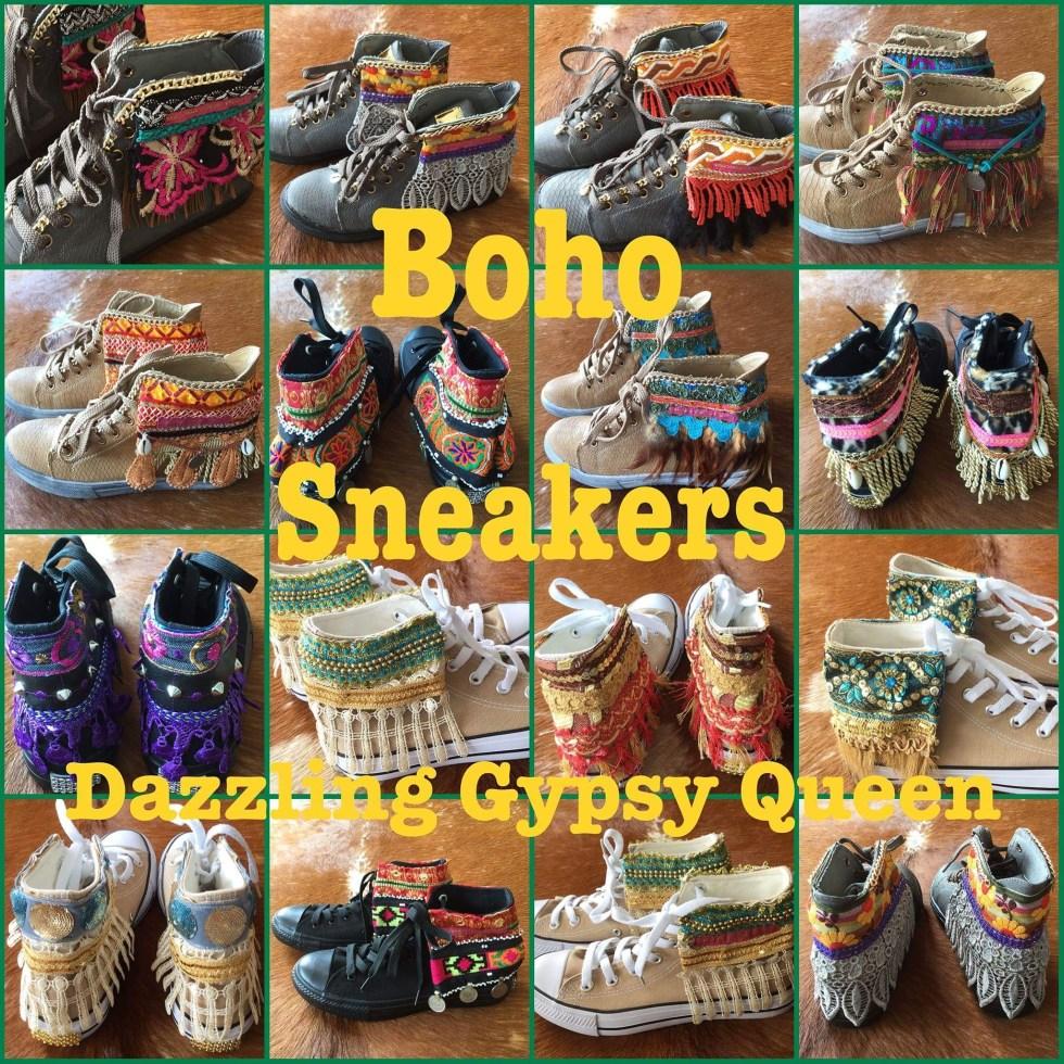 Boho Sneakers - Ibiza Sneakers @ Dazzling Gypsy Queen