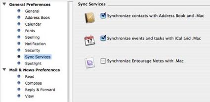 Sync your iPhone with Microsoft Entourage