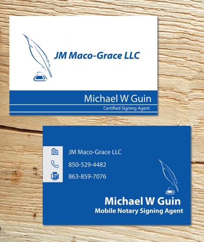 Bold, Serious, Travel Business Card Design for JM Maco-Grace LLC by Alexandar | Design #5410300