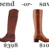 spend or save: riding boots
