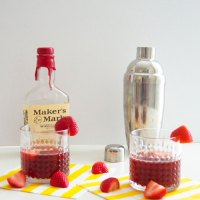 Thirsty Thursday: Strawberry Balsamic Bourbon Smash
