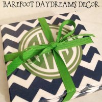 {Monogram Monday} Coasters & A Necklace Winner!