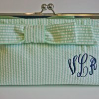 {Monogram Monday: Seersucker Clutch}