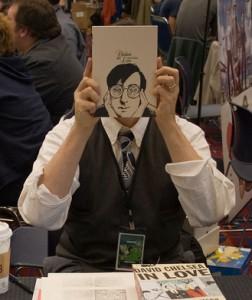 Me at Stumptown Comics Fest 2006, photo by Joshin Yamada
