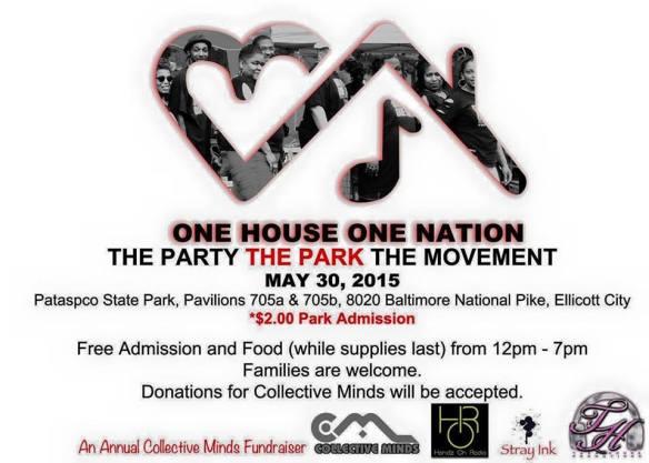 1House1Nation Cookout Collective Minds Fundraiser at Patapsco State Park, Ellicott City