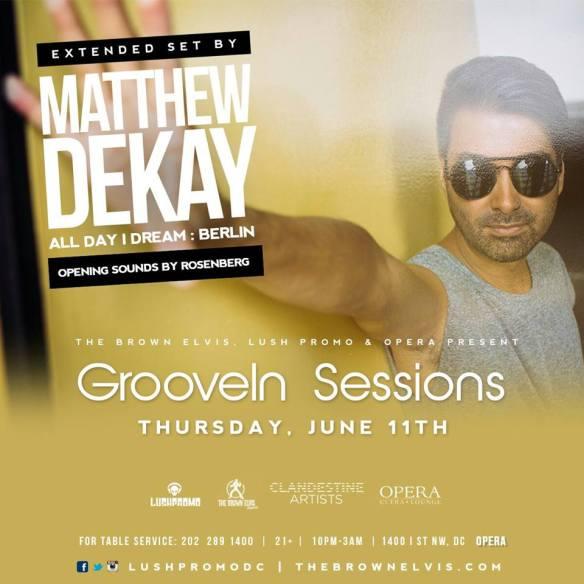 GrooveIn w/ Matthew Dekay (All Day I Dream, Berlin) & Rosenberg at Opera Ultra Lounge