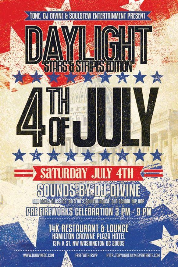 Daylight 4th of July Stars & Stripes Fireworks Edition at 14K Restaurant & Loun