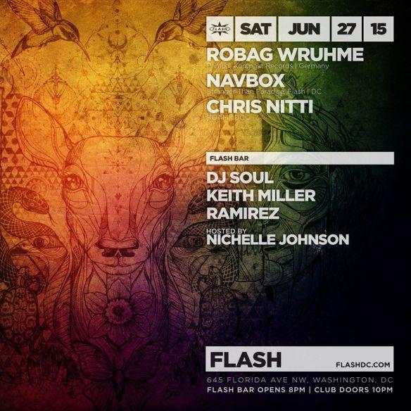 Robag Wruhme, Navbox, Chris Nitti at Flash with Dusk featuring DJ Soul, Keith Miller & Ramirez in the Flash Bar