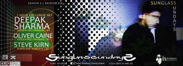 Sunglass Sundays with Deepak Sharma (7hr set), Oliver Caine & Steve Kirn at Public Bar