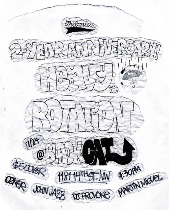Heavy Rotation / Thelonius 2 Year Anniversary Party w/ John Jazz, Ozker, DJ Provoke & Martín Miguel at The Black Cat