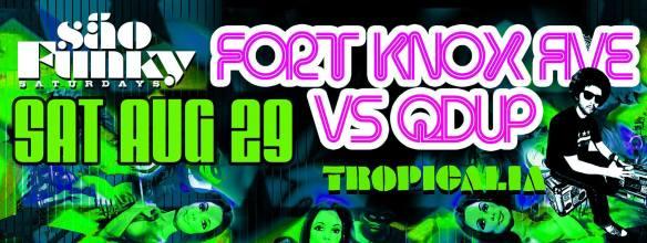 Sao Funky Saturdays w/ Fort Knox Five & Qdup at Tropicalia