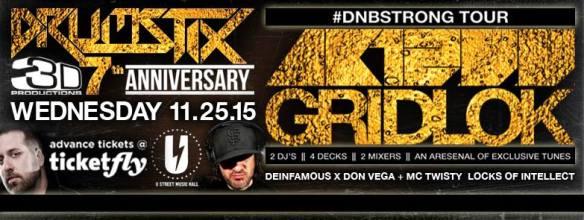 Drumstix #7 w/ AK1200 & GRIDLOK at U Street Music Hall