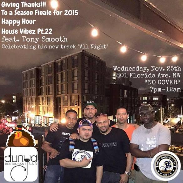 Season Finale Happy Hour House Vibez feat. Tony Smooth at Dunya