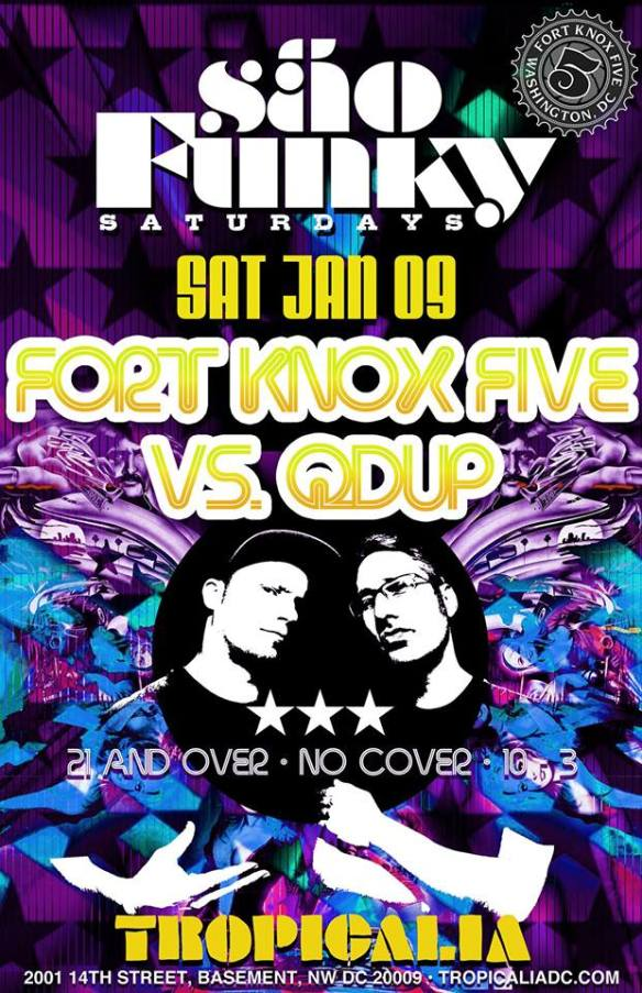 Sao Funky Saturdays with Fort Knox Five & Qdup at Tropicalia