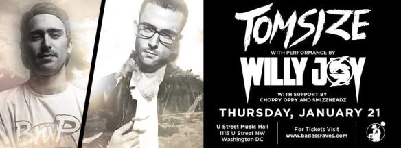 Tom size feat Willy Joy at U Street Music Hall