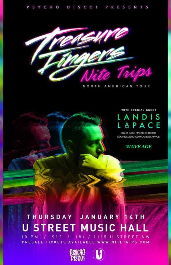 Treasure Fingers with Landis LaPace and Wave Age at U Street Music Hall