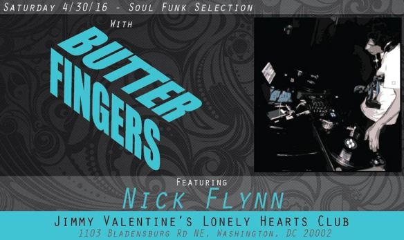 Soul Funk Selection with Butterfingers and Nick Flynn at Jimmy Valentine's Lonely Hearts Club
