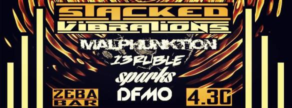 Stacked Vibrations with Malphunktion, 13Ruble, Sparks and DFMO at Zeba Bar