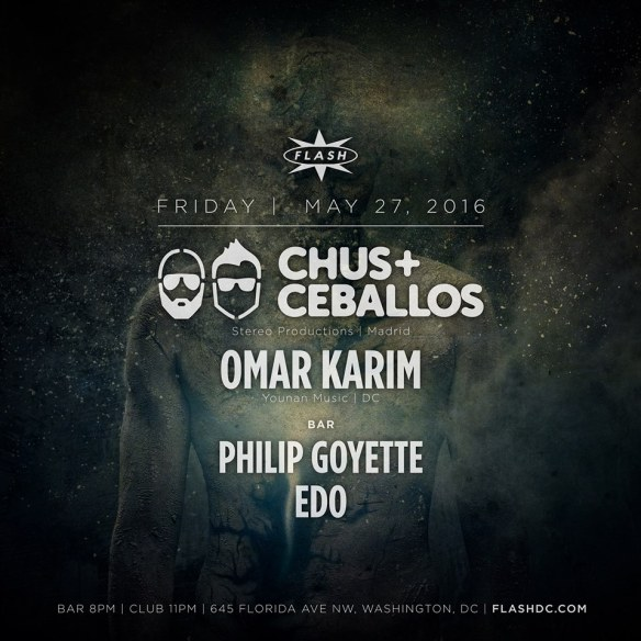 Chus & Ceballos & Omar Karim at Flash, with Philip Goyette and Edo in the Flash Bar