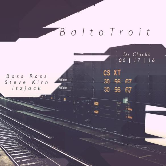 BaltoTroit with Boss Ross, Steve Kirn and ItzJack at Dr Clock's Nowhere Bar