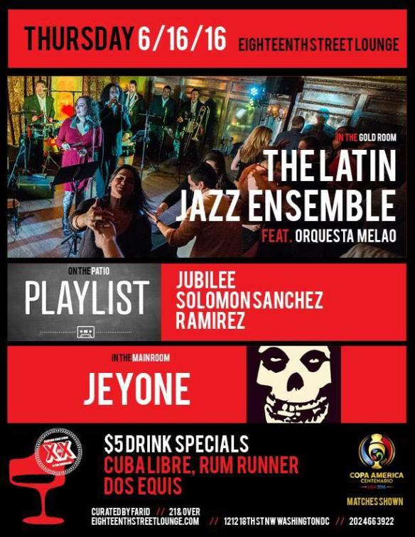 Playlist with Jubilee, Ramirez and Solomon Sanchez at Eighteenth Street Lounge