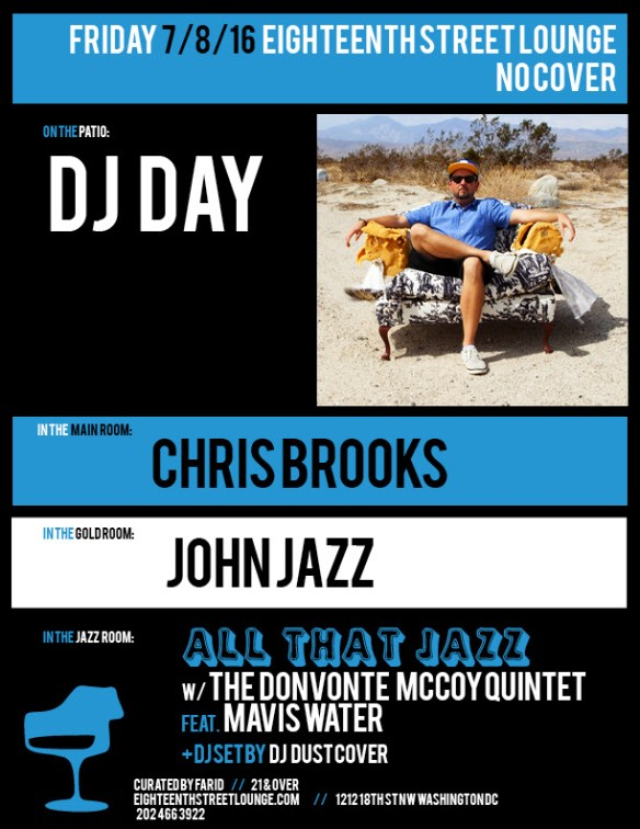 ESL Friday with DJ Day, Chris Brooks, John Jaxx and DJ Dust Cover at Eighteenth Street Lounge