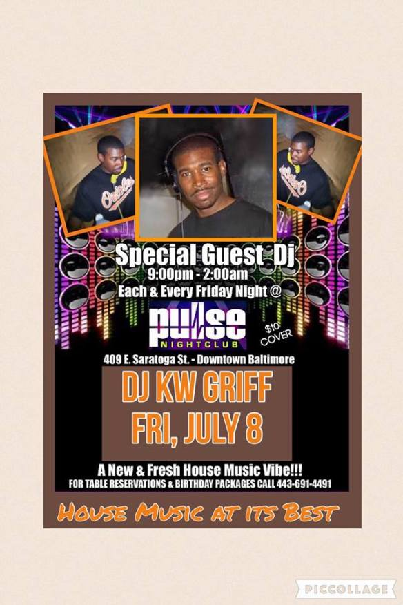 Pulse Fridays with special guest KW Griff at Pulse Nightclub, Baltimore
