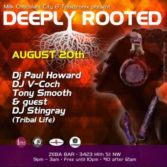 Deeply Rooted with DJ Stingray, Tony Smooth, DJ V-coch, and DJ Paul Howard at Jimmy Valentine's Lonely Hearts Club