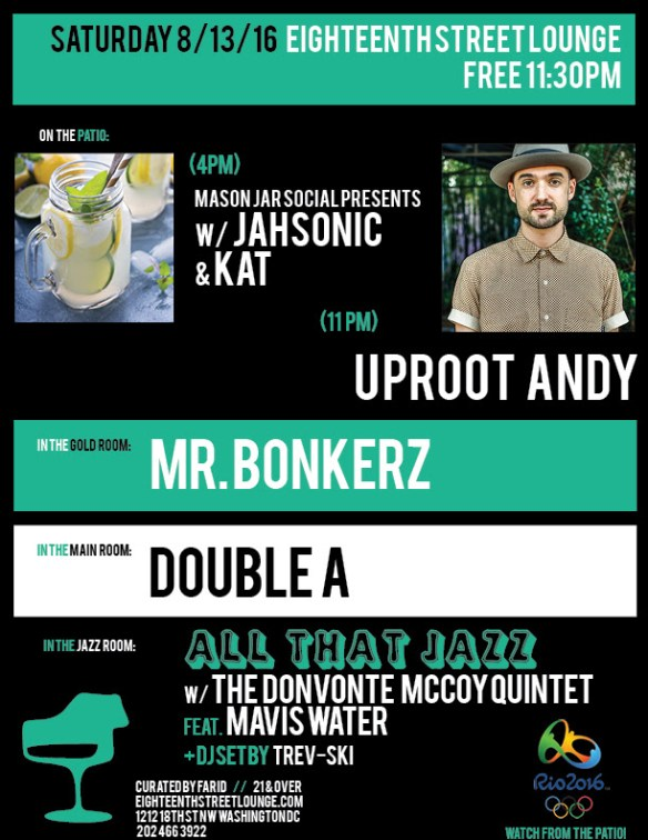 ESL Saturday with Jahsonic, Kat, Uproot Andy, Mr Bonkerz, Double A and Trev-ski at Eighteenth Street Lounge