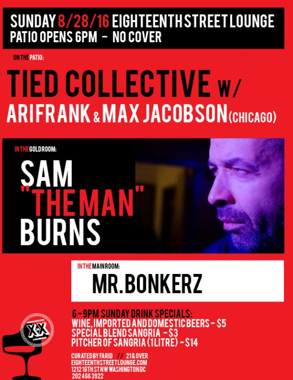 "ESL Sunday featuring Sunday's Rooftop with Max Jacobson, Ari Frank, Feroun & Benoit, Sam ""The Man"" Burns and Mr Bonkerz at Eighteenth Street Lounge"