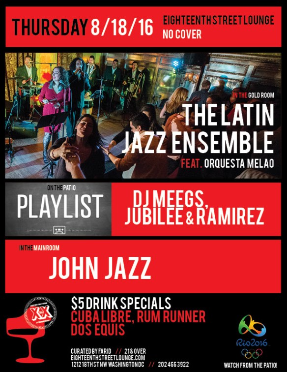 Playlist with Jubilee, Ramirez and DJ Meegs at Eighteenth Street Lounge