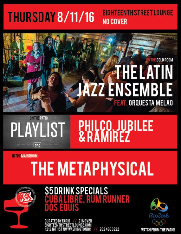 ESL Thursday with Playlist featuring Jubilee, Ramirez and Philco & The Metaphysical at Eighteenth Street Lounge