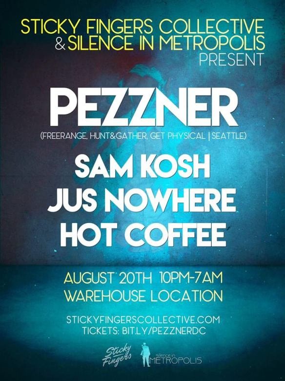 Pezzner with Sam Kosh, Jus Nowhere & Hot Coffee at Secret Location