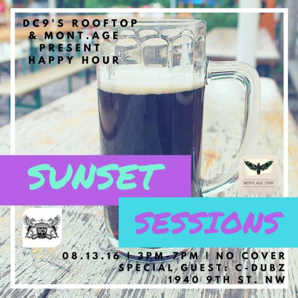 DC9s rooftop presents Sunset Sessions Saturday Happy Hour featuring C-Dubz at DC9 Nightclub