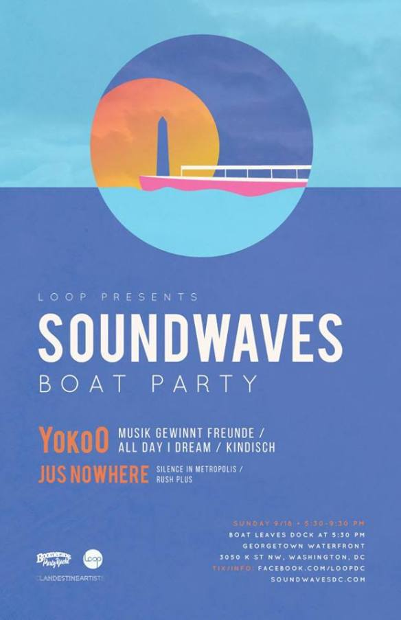 Soundwaves Boat Party with Yoko and Jus Nowhere