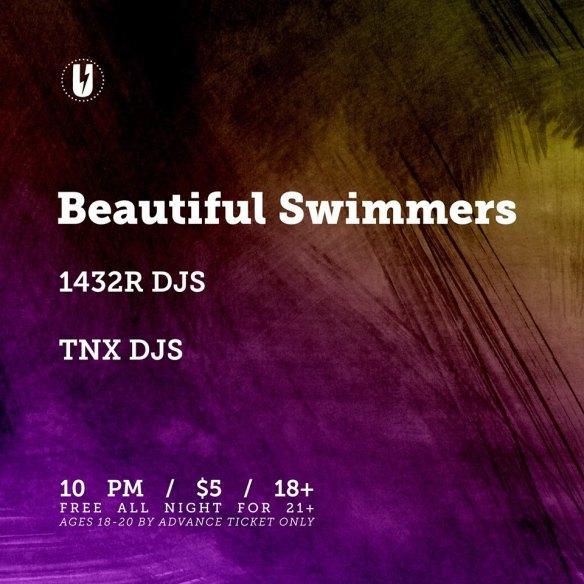 Beautiful Swimmers with 1432R & TNX DJs at U Street Music Hall