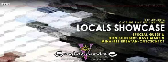 Sunglass Sundays Season Finale Part 1 Locals Showcase with Ron Schubert, Dave Martin, Mina and Rez Ekbatan at Public Bar