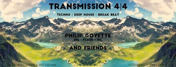 Transmission 4 4 with Philip Goyette & Friends at Velvet Lounge
