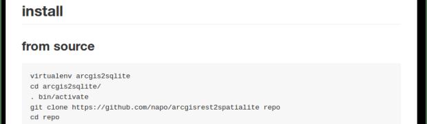 arcgisrest2spatialite: come trasformo una risorsa ArcGIS Rest API in file spatialite