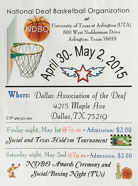 national basketball tournament 2015 dfw deaf network of texas. Black Bedroom Furniture Sets. Home Design Ideas
