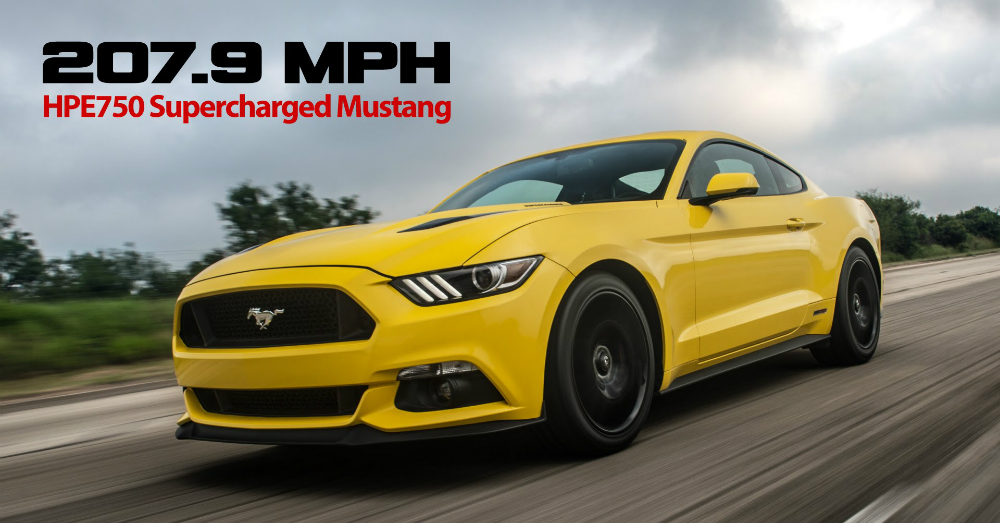 HPE750 Supercharged Mustang