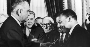 civil rights act_LBJ-MLK_Washington Bureau Getty Images