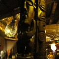 tikis at the end of the bar