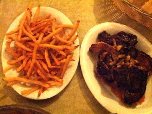 French fries and lamb chops - photo by The Jab, 2014