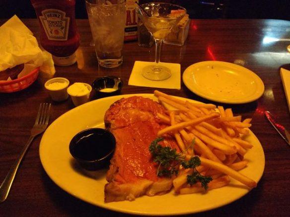 prime rib at Billingsley's restaurant