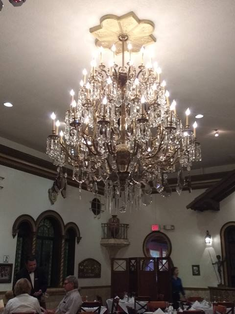 chandelier in the Don Quixote Room - photo by Dean Curtis, 2016
